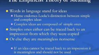 Hume 1: Empiricism and the A Priori