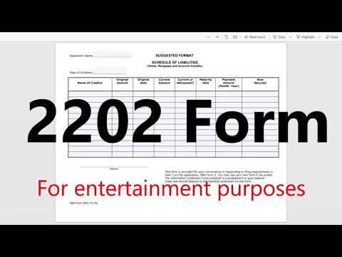 How to File 2202 Form SBA Instructions How to Fill out | Schedule of liabilities