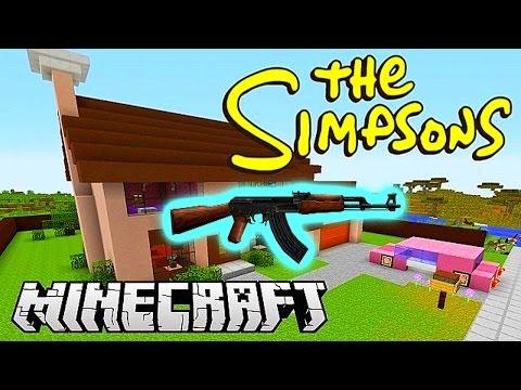 Minecraft Mods - GUN MOD DEATHMATCH #3 (SIMPSONS SPRINGFIELD) With Vikkstar & Friends!
