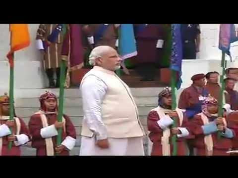 Bhutan gives warm welcome to PM Narendra Modi