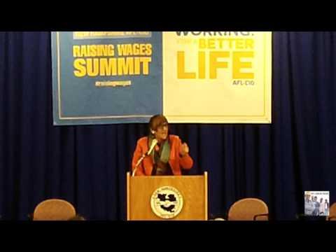 NH Raising Wage Summit: Rep Rosa Delauro