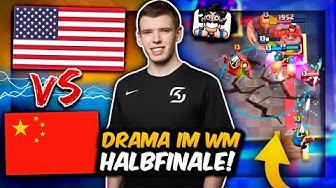 USA vs. CHINA am ABSOLUTEN LIMIT im WM-HALBFINALE! | Wer gewinnt? | Clash Royale Deutsch