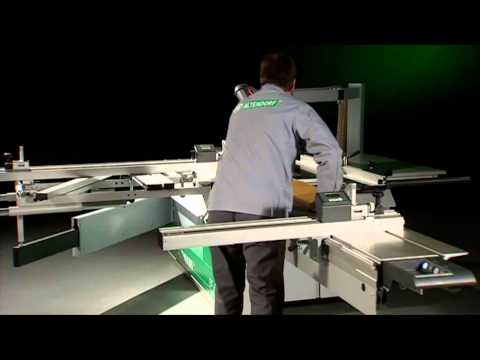 Altendorf Ejemplo escuadrar panel largo