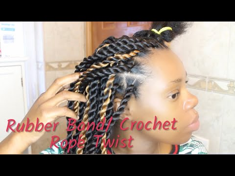 senegalese|-rubber-band-|crochet-rope-twist-method|-nickabell-beauty