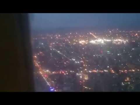beautiful night landing-Mashhad (Iran)-from MD83 ATA Airline