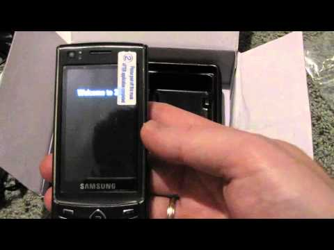 Распаковка Samsung Ultra Touch S8300