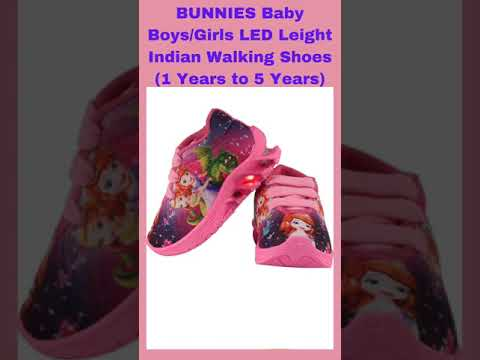 BUNNIES Baby Boys/Girls LED Leight Indian Walking Shoes (1 Years to 5 Years)