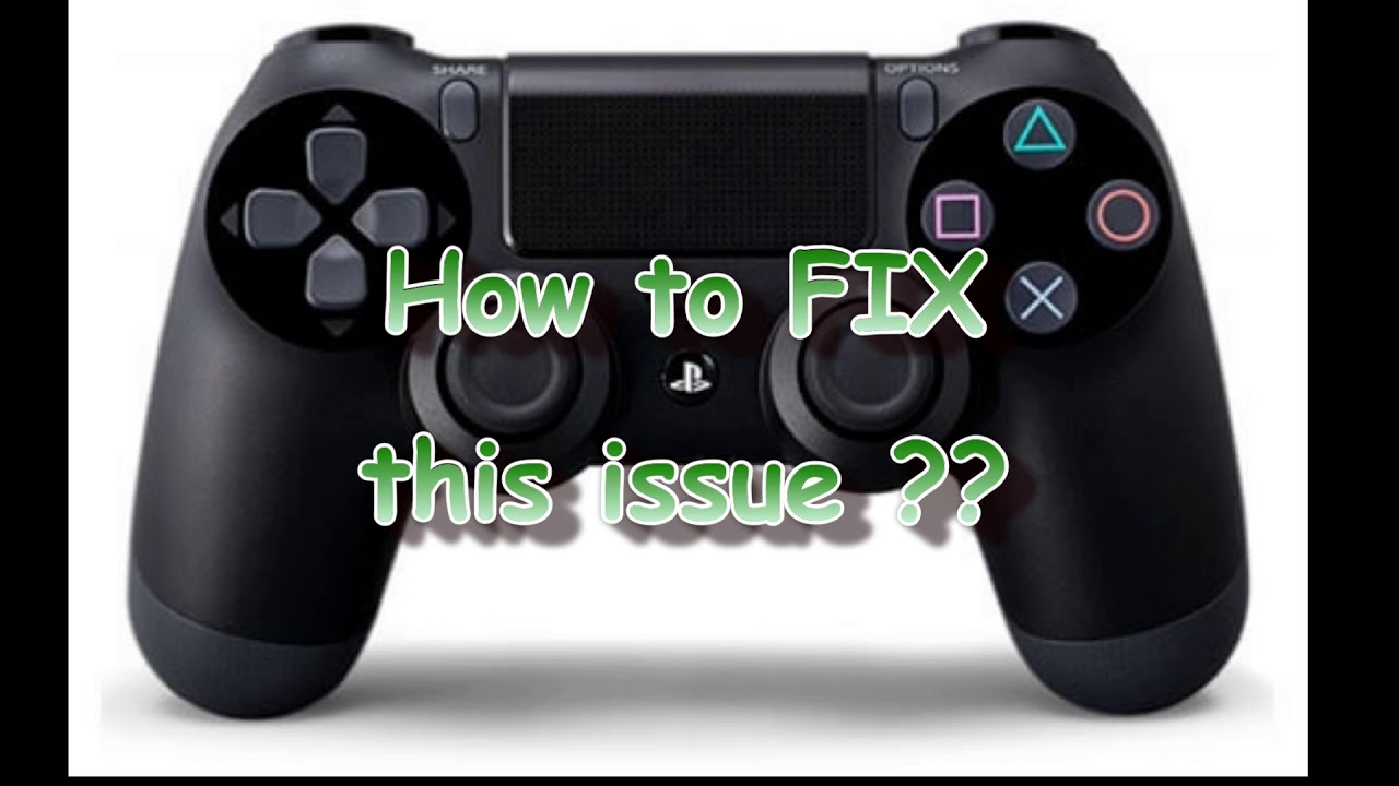 How to fix PS4 controller left/right analog stick stuttering or not working