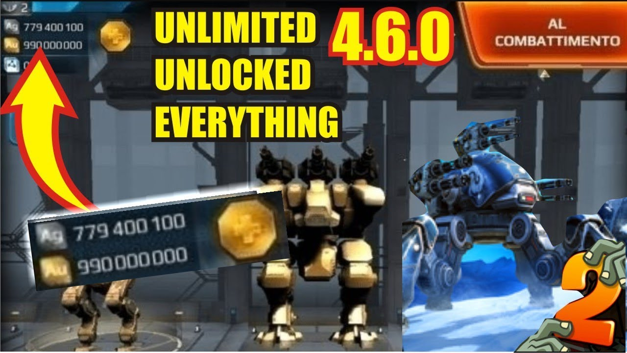 War Robots MOD APK 4.6.0 for Android Unlimited Unlocked Everything