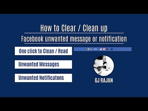 How to clear - clean up unnecessary facebook notifications - messenger messages with one click