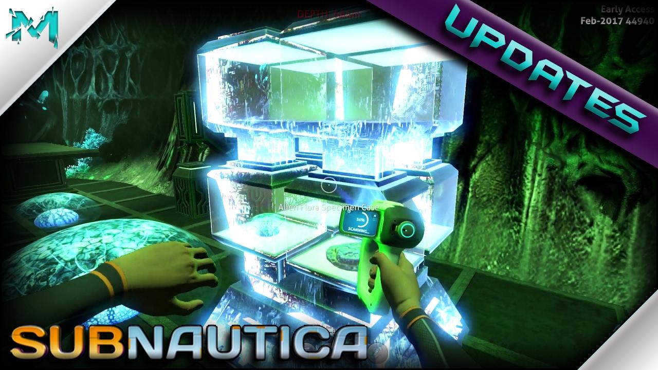 subnautica updates laboratory scannable items precursor cache