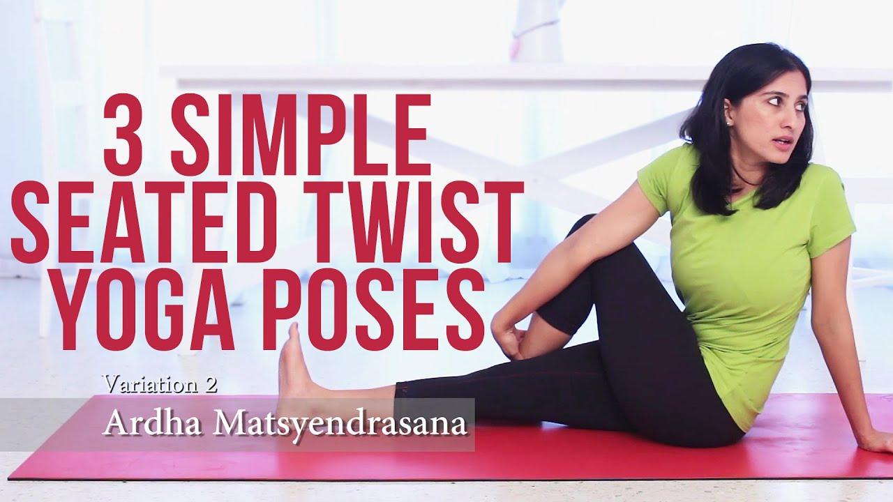 3 Simple Seated Twist Yoga Poses