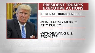 What happens when Trump signs executive action on Mexico border wall?