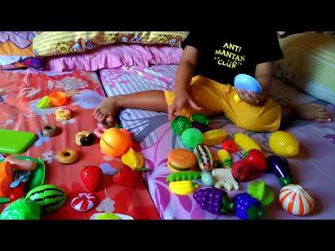 Gabriel mainan potong sayur dan buah Cutting Fruit Toy Jualan Masak masakan