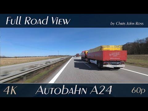 Schleswig-Holstein, Germany: Autobahn (A24), Gudow - Schremheide - 4K (UHD/2160p/60p)