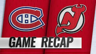 Zacha scores twice as Devils beat Canadiens, 5-2
