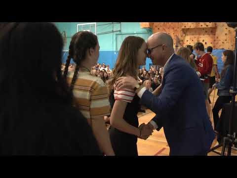 Whole school haka and farewell for Gregor Fountain, Paraparaumu College Principal 2013 - 2018