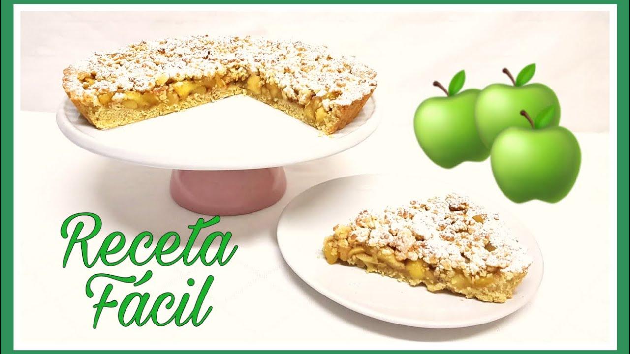 TARTA CRUJIENTE DE MANZANA Receta fácil - Apple Crumble Pie Easy Recipe