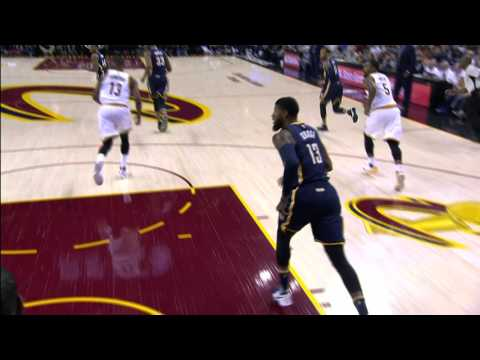 Paul George & LeBron James Trade Dunks In Cleveland | April 2, 2017
