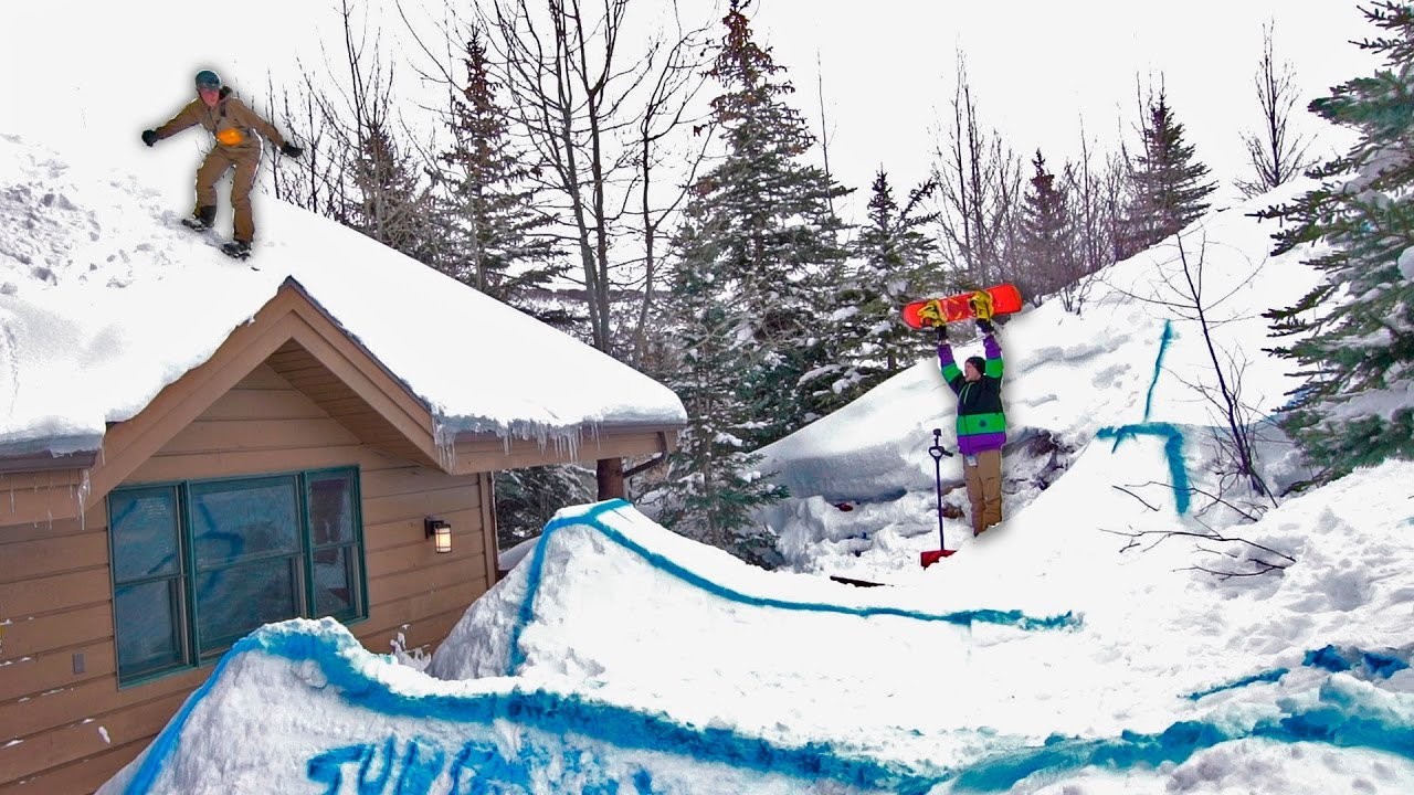 WE TURNED OUR BACKYARD INTO A SNOWBOARD PARK YouTube - Backyard snowboarding