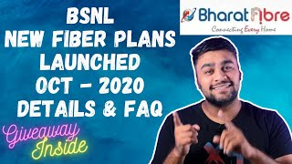 BSNL Fiber Latest Plans Oct 2020 Details And FAQ's   GIVEAWAY INSIDE ! Hindi