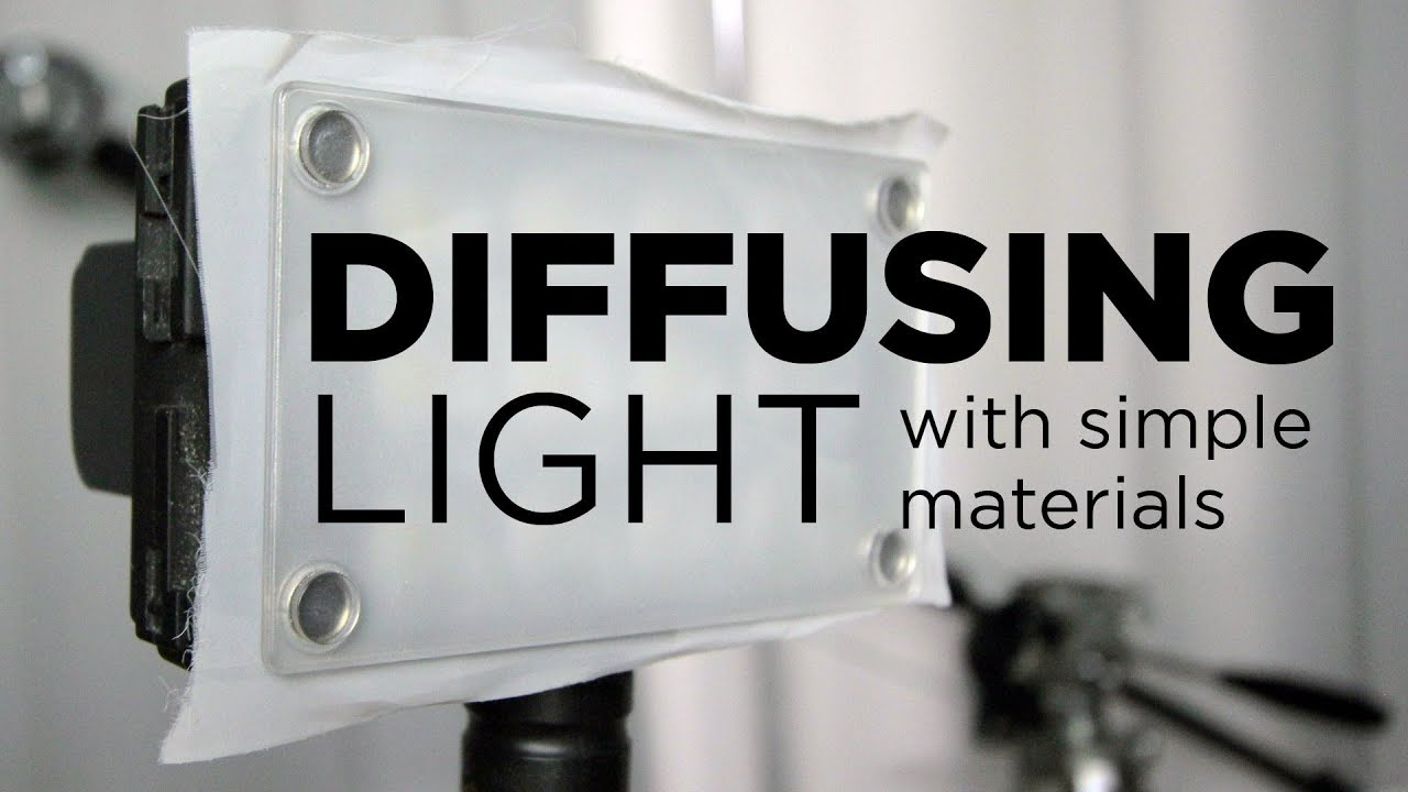 Diffusing lights with simple materials by Chung Dha - YouTube