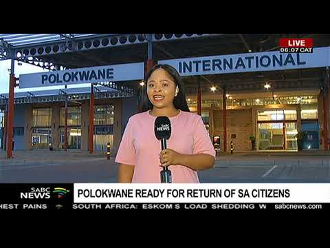 South African citizens repatriated from China  expected at 10 am