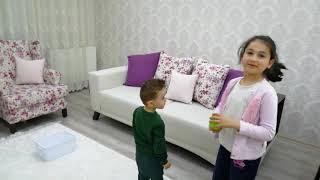 YUSUF MİRAÇ TV Yusuf miraç Zeynep ablasıyla basket oyunu oynuyor