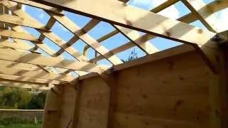 Строительство навеса для авто / Деревянный навес / Устройство крыши(Строительство деревянного закрытого навеса для автомобиля.http://masterdachi.ru/ Деревянный навес для автомобиля...., 2015-09-29T04:05:22.000Z)