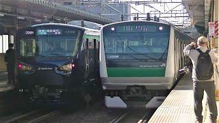 【JR相鉄直通開始!】相鉄12000系&E233系7000番台 横須賀線内にて