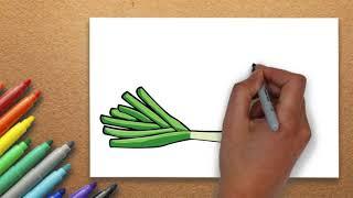How To Draw scallion  | Massive Kidszone