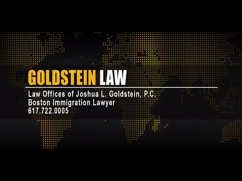 Based in Boston, Lawyer Joshua Goldstein solves immigration problems, helps folks get green card, visa, and citizenship. Deportation defense is a particular concern and specialization.