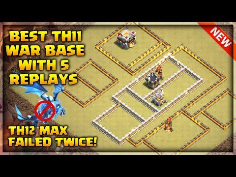 Best Th11 War Base 2019 With 5 Replays, Th12 Failed Twice ,Anti Electro Drag ,Anti Bowler   CoC