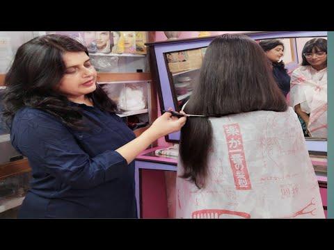 2019ka Long To Short Hair Cut Front Slide Layer Cut Back Straight Haircut Shoulder Length Haircut Youtube