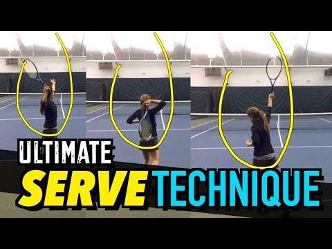 ULTIMATE Serve Technique Lesson - Tennis Drills + Tips