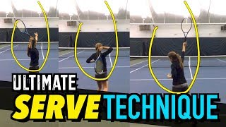 ULTIMATE Serve Technique Lesson - Tennis Drills + Tips