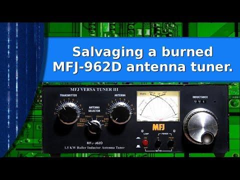 Ham Radio - Salvaging a burned MFJ 962D versa tuner