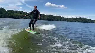 Wake Foiling Elk Lake