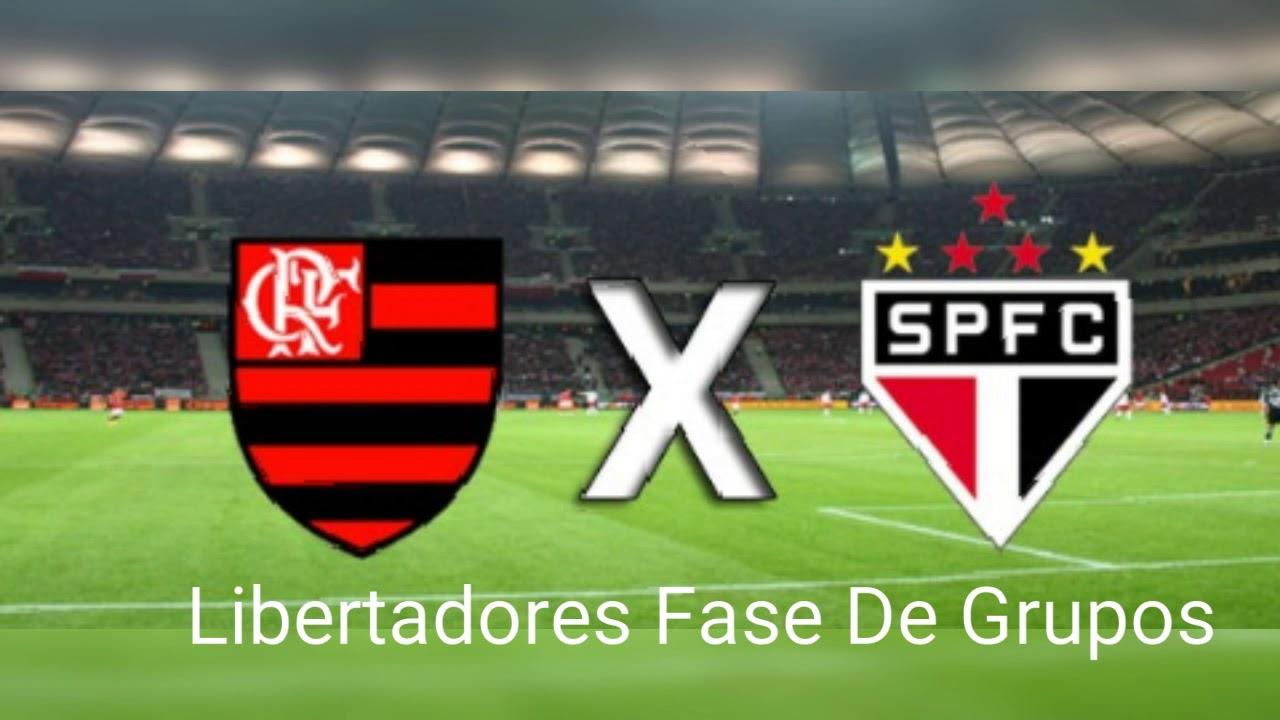 Libertadores Flamengo 1 X 0 São Paulo jogo de ida fase 1 ...