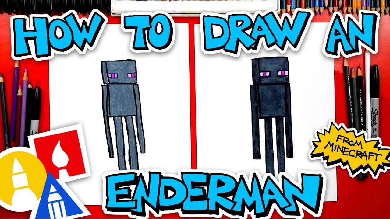 How To Draw An Enderman From Minecraft