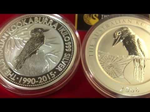 Silbermünze Kookaburra feiert ihr 25 jähriges - Silber kaufen als 1 kg Münze