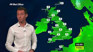 Thursday afternoon forecast 21/09/17