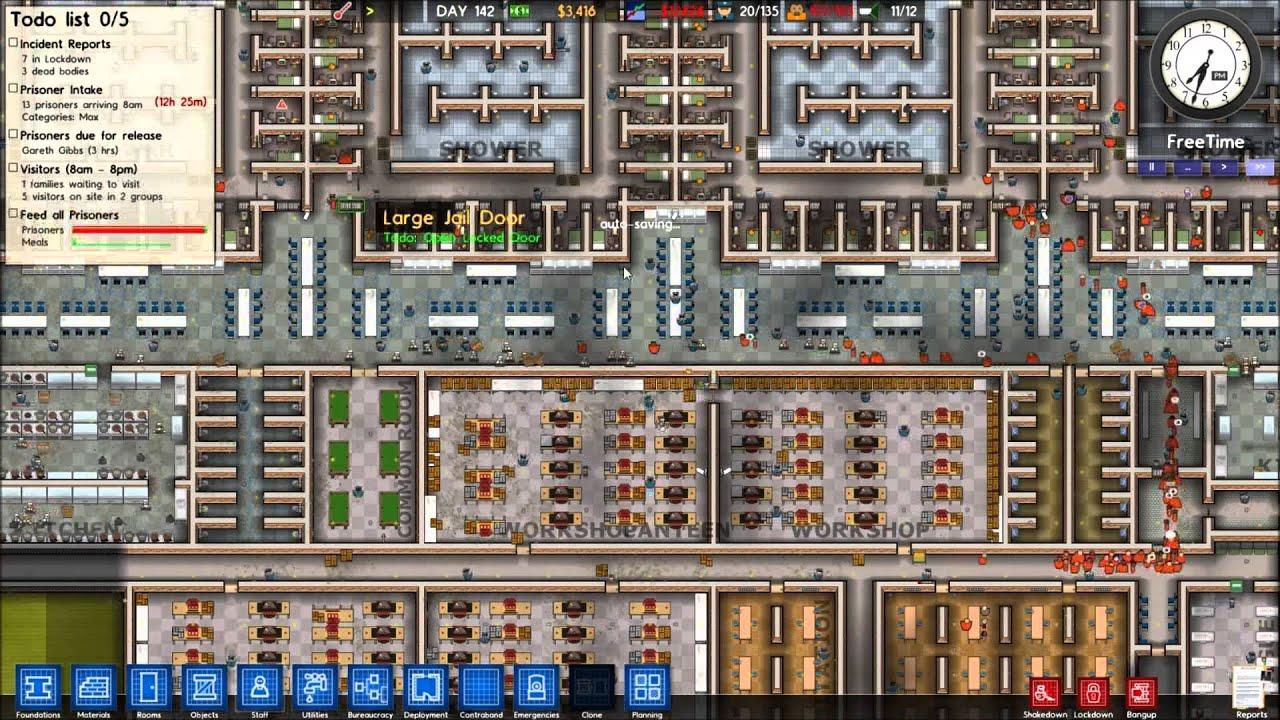Prison architect my prison 1080p hd youtube for Jail architect