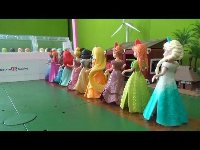 디즈니 겨울왕국 엘사 10명 공주 아이스크림 가게 장난감 Disney Frozen Elsa 10 princess Icecream Shop Toys
