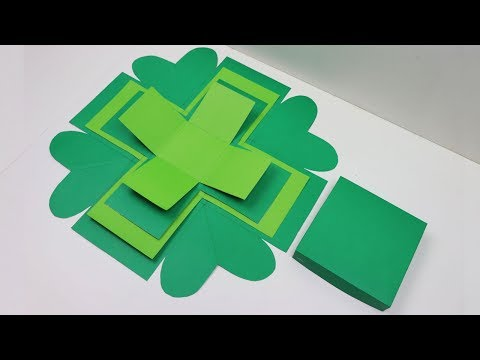 DIY Explosion Box Basic: How to Make Basic of Paper Explosion Box Tutorial - Art and Craft Gift Idea