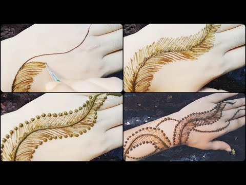 Trendy and unique henna mehndi design tutorial thumbnail