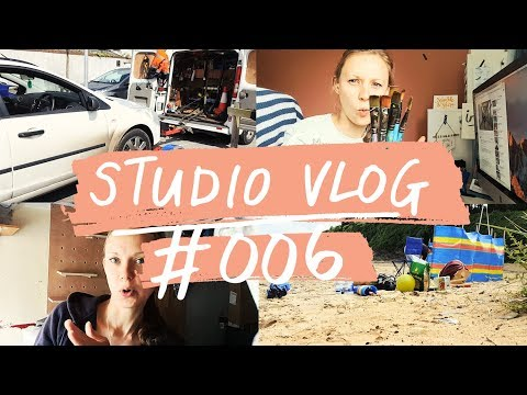 Studio VLOG 006   sorting and packing, creating client art, breaking down   Mel Chadwick