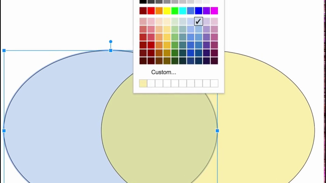 hight resolution of venn diagram in google drawings