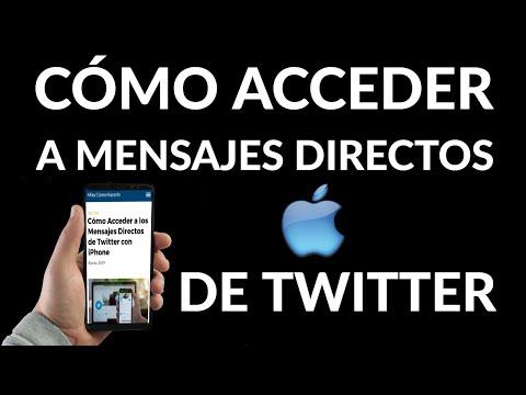 Cómo Acceder a los Mensajes Directos de Twitter en iPhone