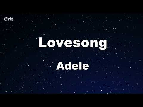 Lovesong - Adele Karaoke 【No Guide Melody】 Instrumental